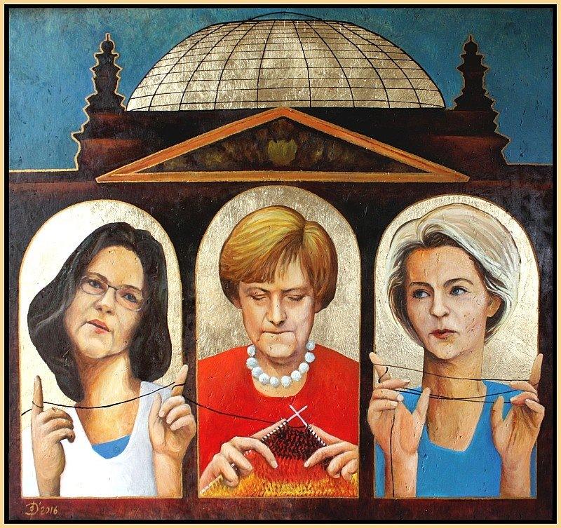 "Gemälde von Olga David , Titel ""Frauenkabinett"""