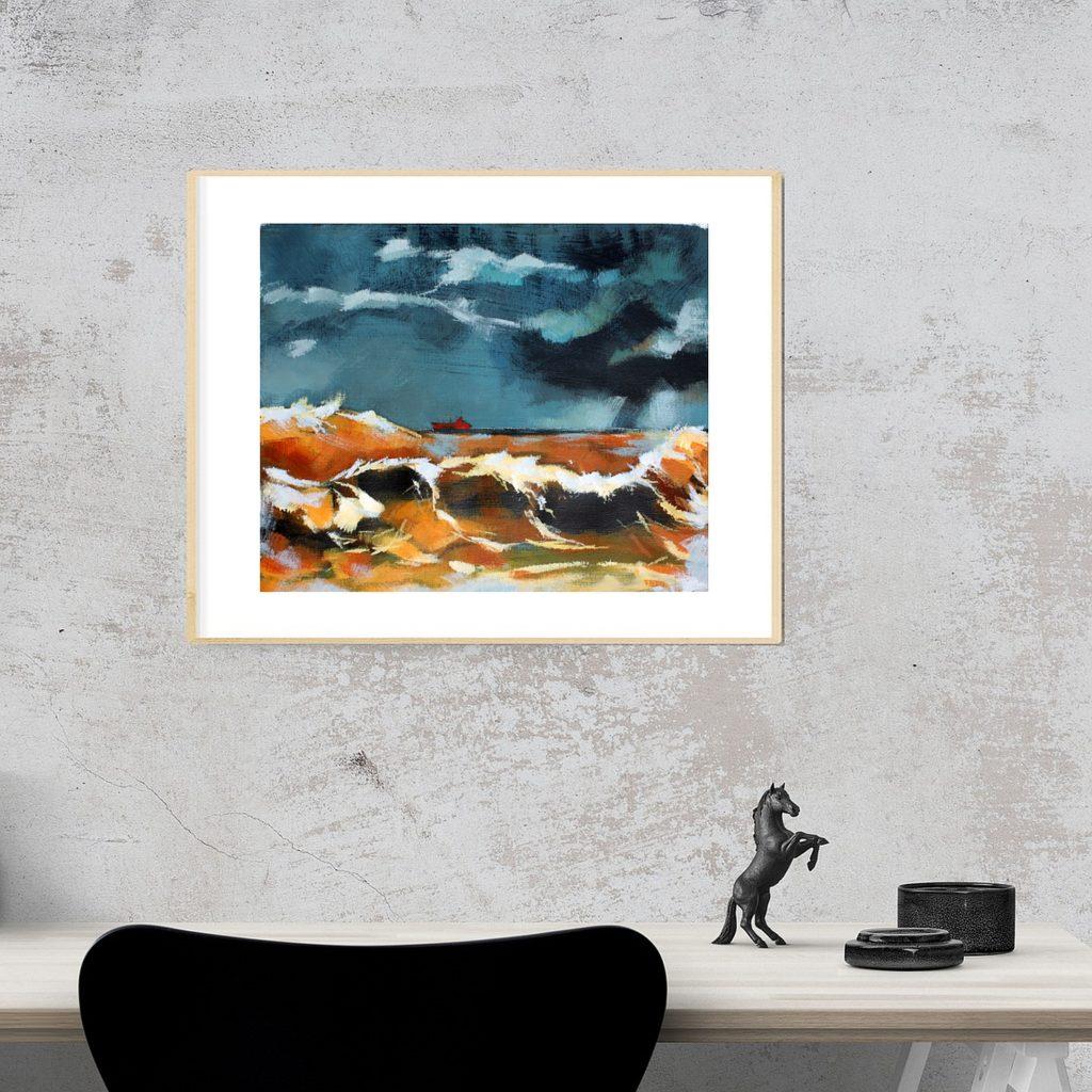 Acrylgemälde Interieur Beispiel