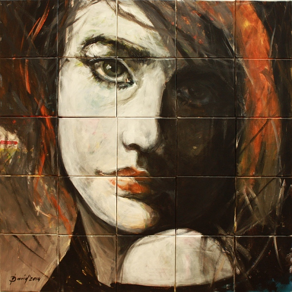 Segmentmalerei der Portraitmalerin Olga David