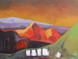 Acryl Gemälde Kaukasus I
