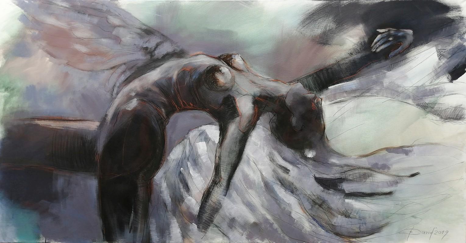 Angel's Dreams, Mischtechnik auf Leinwand 200x105cm