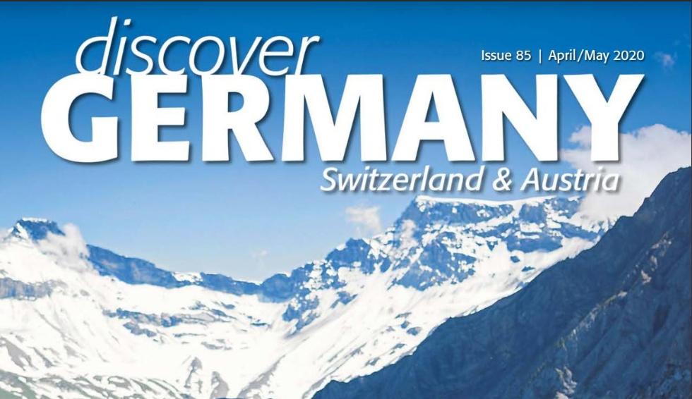 Artikel in der Aprilausgabe des Magazins discover GERMANY.