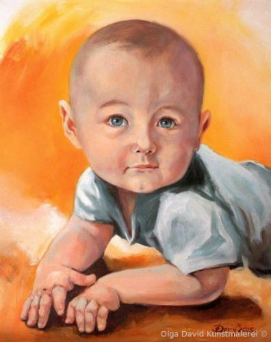 kinderportrait acryl gemälde vom foto olga david
